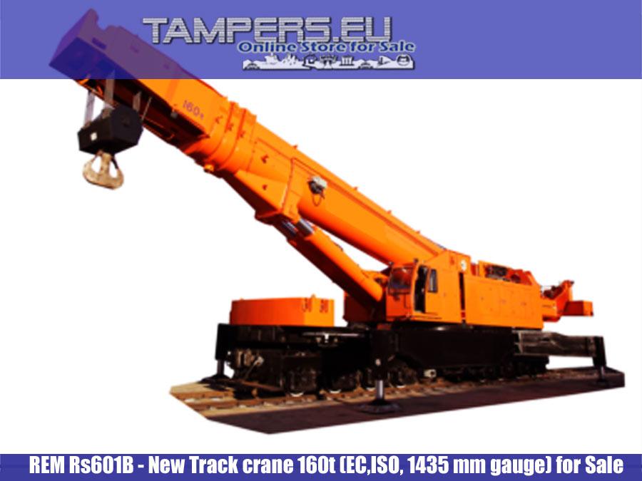 REM Rs601B Нов ЖП кран 160t (EC,ISO,SGS,1435 mm междурелсие) за Продажба {I генерация}