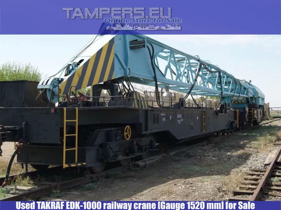 Железопътен кран EDK-1000 TAKRAF (1987 год. жп междурелсие 1520 мм) за Продажба