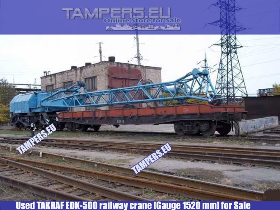 Железопътен кран EDK-500 TAKRAF (1983 год. жп междурелсие 1520 мм) за Продажба