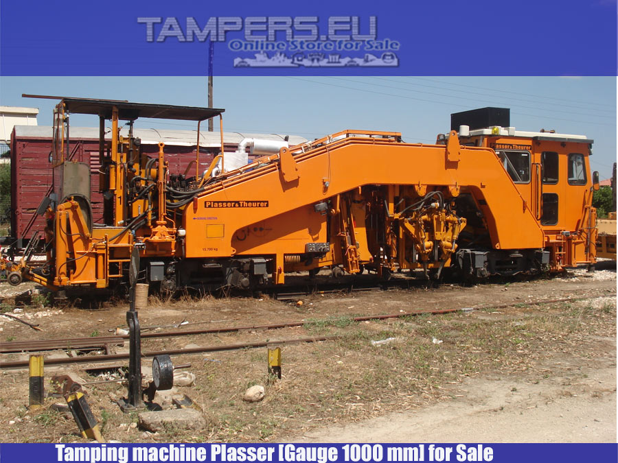 Rebult 2005 Tamping machine Plasser (Production 1980* year, REBUILT 2005 year, Gauge 1000 mm) for Sale