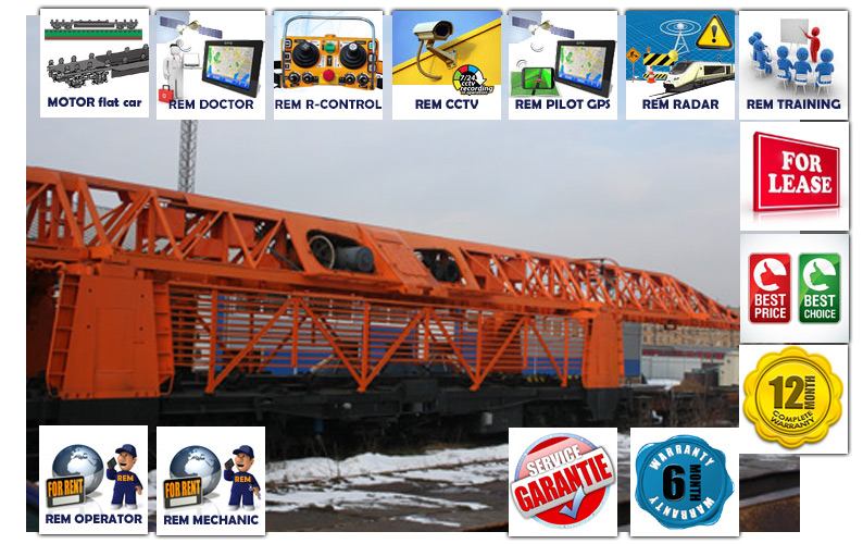 PRO Railway Track-Laying Crane UK25/9-18/REMv2.0 (Modernized PRO version of REMTECH, modernized with REM systems, additional application and customer requirements)
