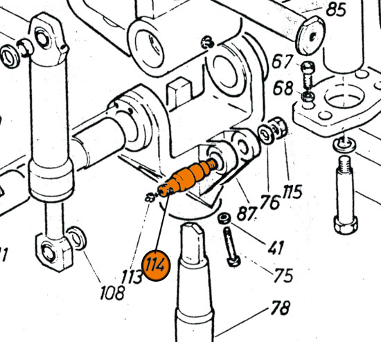 REM.W37.505AS Bolt {Replace Plasser W37.505AS}