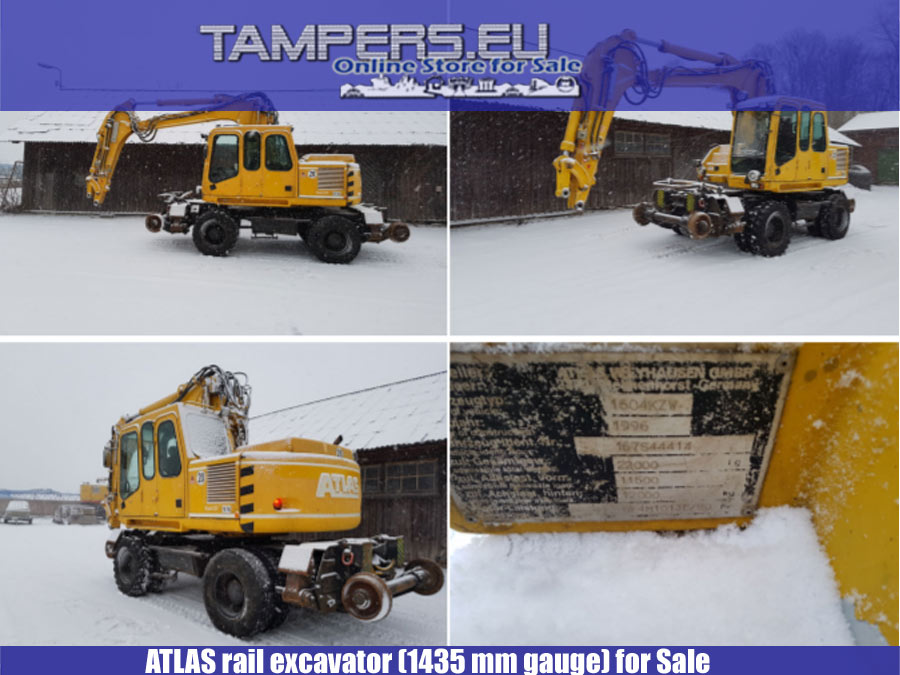 ЖП багер ATLAS {1435 mm междурелсие} за Продажба