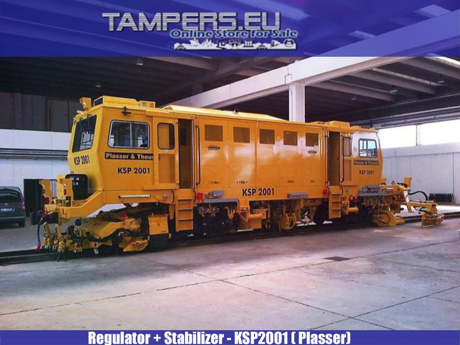 СЛЕД КАПИТАЛЕН РЕМОНТ 2012 - Regulator + Stabilizer KSP2001 (Plasser and Theurer)  {Производство 1995 год., Ремонт 2012 год., Gauge 1065 mm} for Sale