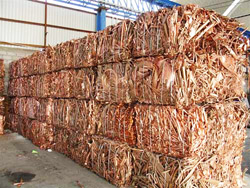 Copper wire cathode, ingots, scrap / waste purity between 95% - 99.99% {500-5.000MT/month} for Sale in AUCTION.TAMPERS.EU