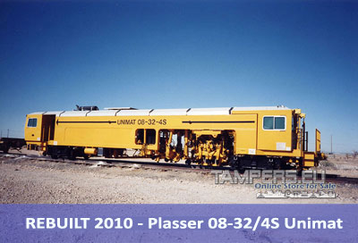 REBUILT 2010 - Тamping machine 08-32/4S Unimat {Production in 1999 year, Rebuilt 2010 year, for track} for Sale