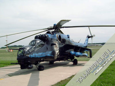 2016 REBUILT MIL Mi-24R *VIP Ex-military = Tiger* Hind {Demilitarized} {04 PCT} for Sale
