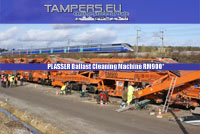 High capacity ballast cleaning machine Plasser RM900* for Sale