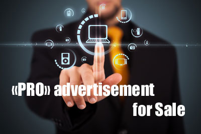 The publication «PRO» ADVERTISEMENT for Sale = 94 euro/month* = Package Test «01 Add»