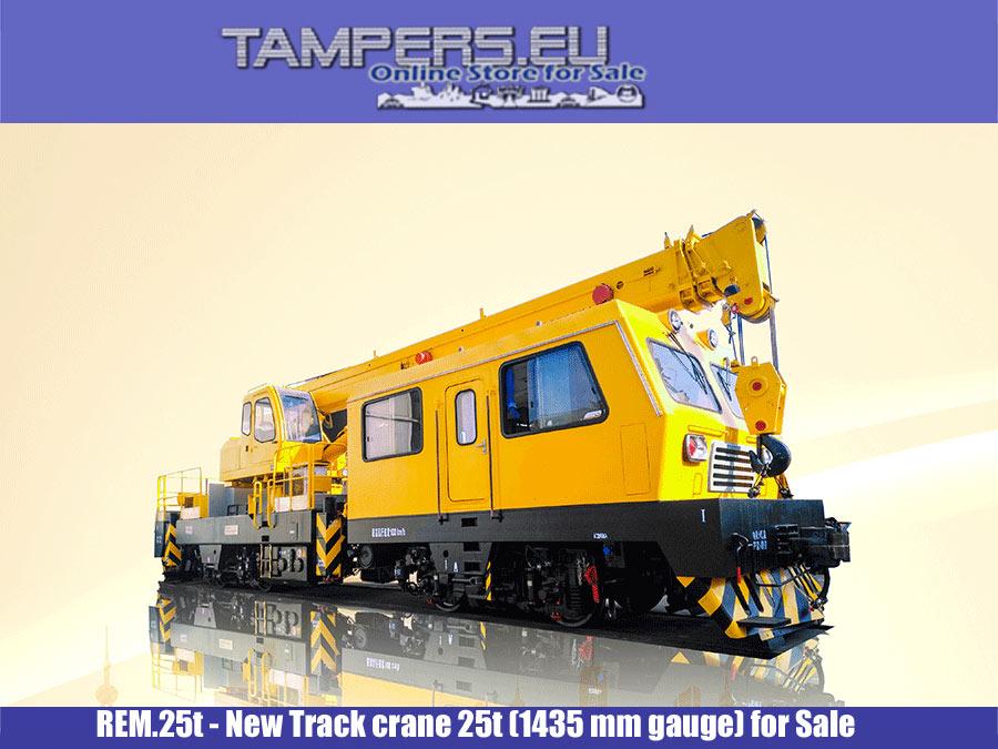 REM.25t Нов ЖП кран 25t (1435 mm междурелсие) за Продажба {I генерация}