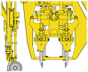 REM.W37.609SPGL. Държач-рамо подбивка (Заменя Plasser W37.609SPGL. Tamping Tyne Holder)
