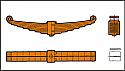 REM02.021.01- Leaf Spring SET (8 layers) Bogie WU 83 (DB BA 640 ff- P64 or H-665)