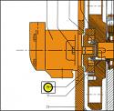 REM.UD25.619 Clutch flange (Replace Plasser UD25.619)