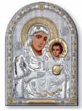 "Icon Oval ""Sv.Bogoroditsa-Yerosalim"" 26X37 sm with gold {Certificate of authenticity}"