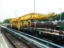 Втора Употреба 1987 година ЖП Кран пътепоставач УК25/9-18 + Моторна платформа УК-25/9-18МП - Междурелсие: 1435 мм