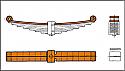 REM02.021.01-1 Lead Spring (1 leaf - 1ST Layers) Bogie WU 83 (DB BA 640 ff- P64 or H-665)
