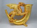 """Gold Dragon"" solid silver figure {Silver 590 g, certificate of identity}"