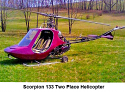 1988y - Scorpion 133 Two Place Helicopter for Sale