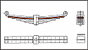 REM02.021.01-3 Lead Spring (3 leaf - 3RD Layers) Bogie WU 83 (DB BA 640 ff- P64 or H-665)