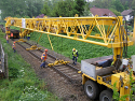 Railway Track-Laying Crane PKP25 {1435 mm gauge} for Rent in Czech Republic (EU)