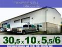 Използвано индустриално метално хале-автосервиз {комплект, стоманена ферма, изолация, 30.0 x 10.0 x 6.0m} за Продажба