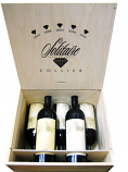 Solitaire Gift Set - 5 bottles of 0.75 l vintages 2003-2004-2005-2006-2007 in wooden box