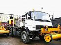 Mercedes Rail/Road with Crane HIAB 45