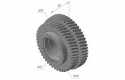 2-45-11-006A GEAR WHEEL 2-45-11-006A-MF 600, MF-601, Z = 60