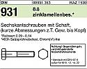 REM.M20X110DIN931-8.8/VERZ. DE Hex. Bolt (Replace Plasser M20X110DIN931-8.8/VERZ.)